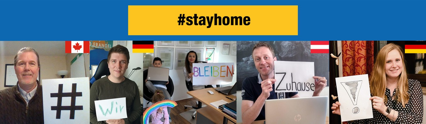 #stayhome and help slowing down the spread of the Corona Virus. For our employees. For our customers. For our families. Good idea. Let's make it!
